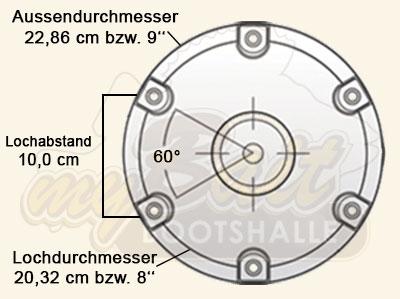 Springfield Base Hi-Lo Bodenplatten - Dimensionen