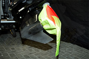 Bootstrailer Überstandskennzeichnung Propeller Abdeckung