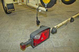 Bootstrailer abnehmbarer Beleuchtungsträger