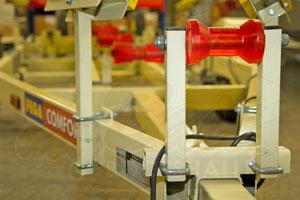 Bootstrailer mit universell anpassbaren Bootsstützen