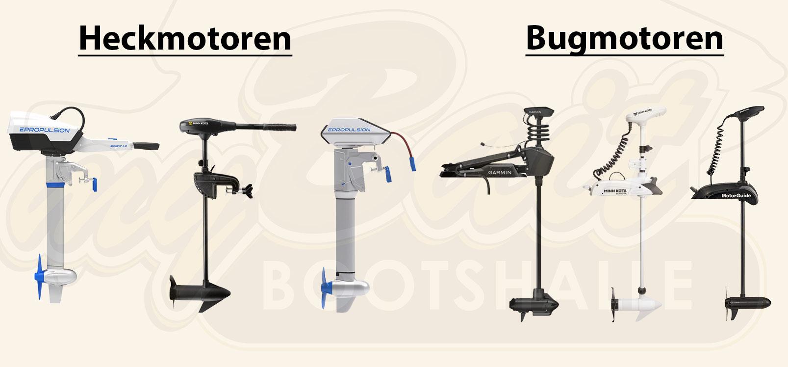 Heckmotoren und Bugmotoren im Vergleich