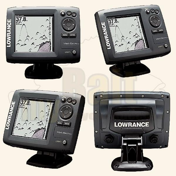 Lowrance Mark 5x Pro in 4 verschiedenen Perspektiven