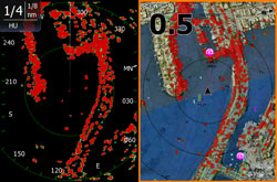 Lowrance Broadband 4G Radar Darstellung