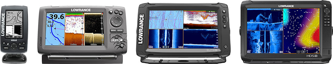 Lowrance Mark-4 CHIRP, Hook-7, Elite 9 Ti, HDS 12 CARBON