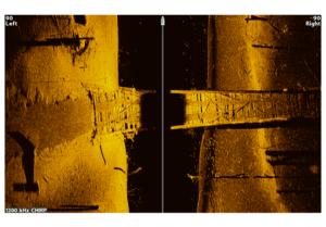 Beispiel für Humminbird Side Imaging+ mit Steg