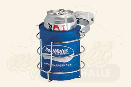 BoatMates First-Mate Stainless Steel Drink Holder - Blue Can Cooler
