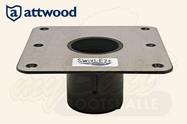 Attwood Swivl-Eze: quadratische Bodenplatte aus Edelstahl – Serie LakeSport 238