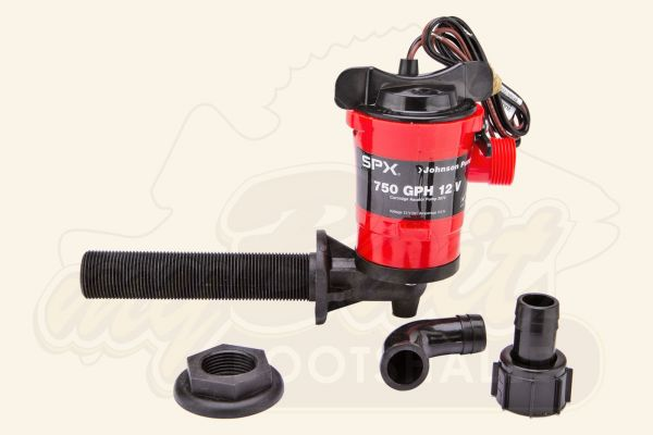 Johnson Livewell Pumpe 750 12V, 90°
