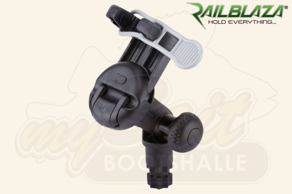 Railblaza Mobilgeräte-Halter mit Klauen, schwenkbar, schwarz