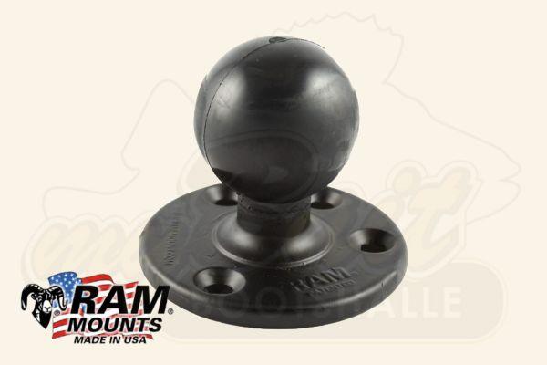 RAM Mounts Kugel Verbindung mit runder Basisplatte
