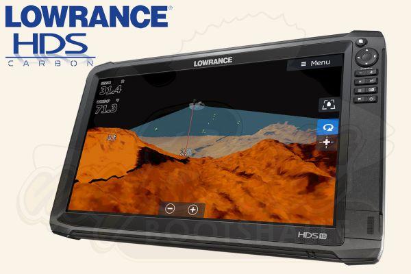 Lowrance HDS 16 Carbon Echolot mit Logo