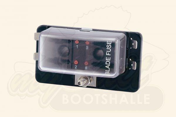 Ripca Sicherungshalter & Sicherungskasten 4-fach mit LED-Statusanzeige