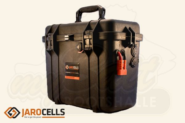 Jarocells Portable Lithium Ionen Batterie mit Bluetooth Batteriecomputer