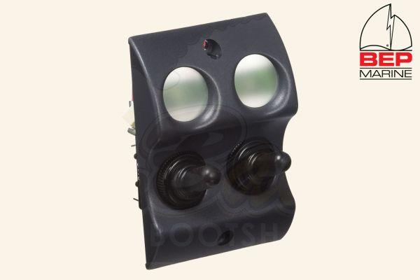 BEP Marine Micro Schalttafel 900-2WP On/Off, 2 Schalter, schwarz