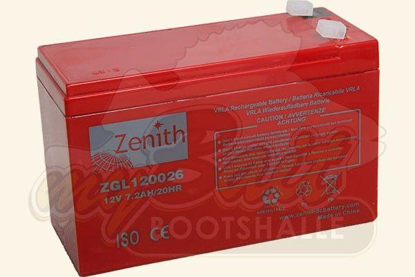 Zenith Echolot Akku 12V 7.2Ah