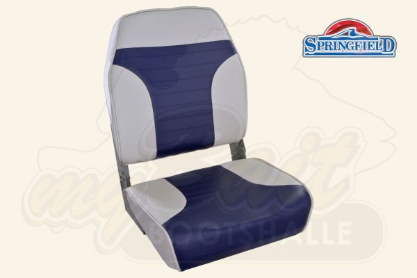 Springfield Economy High Back Folding Seat Blue/White