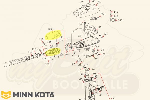 Minn-Kota-Ersatzteil – Gehäuse-Set für Gelenkhalter – 2770905
