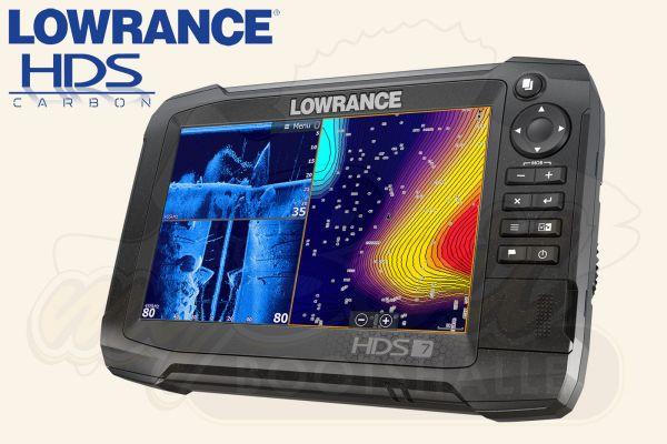 Lowrance HDS 7 Carbon Echolot & Kartenplotter mit Logo