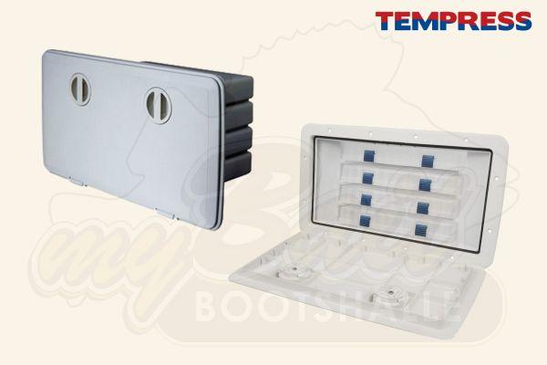 Einbaukasten mit 4 Köderboxen 44580 von Tempress in weiß