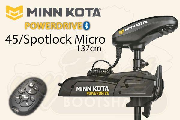 Minn Kota PowerDrive 45 Spotock Micro mit 137 cm Schaftlänge