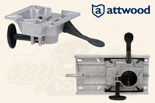 Attwood LakeSport 238 Swivel Drehteller ohne Schiene / mit Schiene