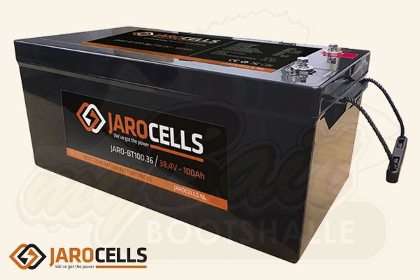 Jarocells Lithium Ionen Batterie mit Bluetooth Batteriecomputer