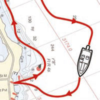 MotorGuide Xi5 Pinpoint GPS Routenaufzeichnung