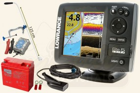 Lowrance Elite-5 CHIRP (83/200 + 455/800 kHz) Portabel Set XXL-3